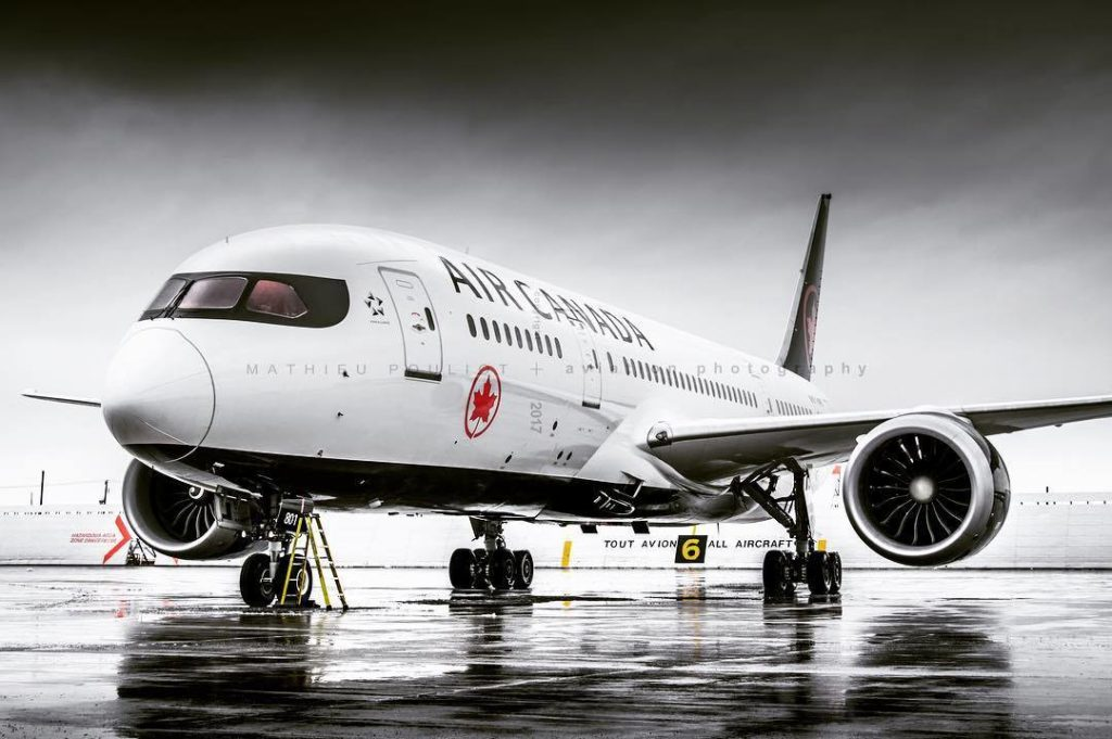 An Air Canada Boeing 787-8 at rest, in the company's new retro livery. Photo submitted by Mathieu Pouliot