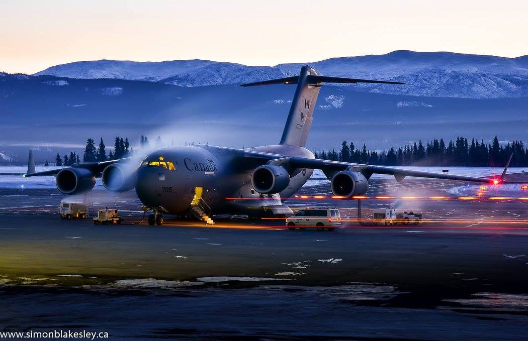 Frosty pre-flight for this Royal Canadian Air Force CC-177 Globemaster III on a -30C Whitehorse morning. Photo submitted by Simon Blakesley