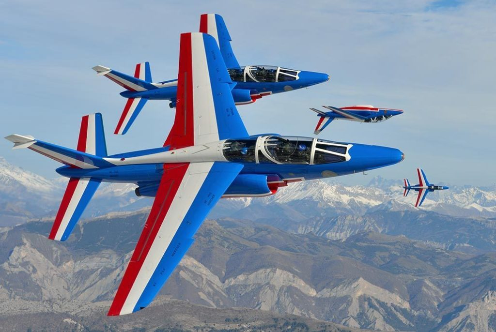 The Canadian Forces Snowbirds and the Patrouille de France (pictured here) of the French Air Force (l 'Armée de l'Air) will soar over the skies of Gatineau in a display of friendship, freedom and the historic ties between Canada France. Aero 150 Photo