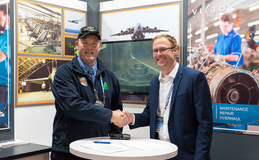 Under the terms of the multi-year agreement, Vector will provide comprehensive engine MRO services in support of Field Air's fleet of five Air Tractors. In addition, Vector will provide comprehensive MRO services to Field Air for all engines provided by its customers. Vector Aerospace Photo