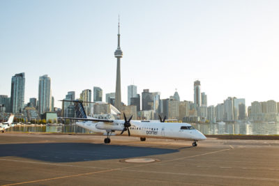 Passengers can fly non-stop from Billy Bishop Toronto City Airport to Mont Tremblant International Airport in just 70 minutes. Porter Photo