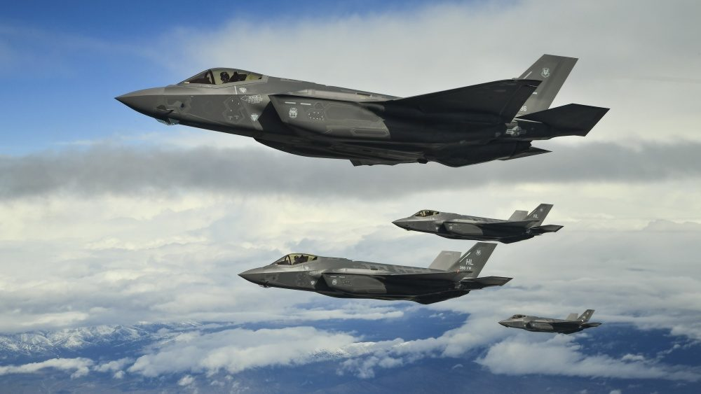 Hill Air Force Base F-35As fly in formation over the Utah Test and Training Range, March 30, 2017. U.S. Air Force Photo