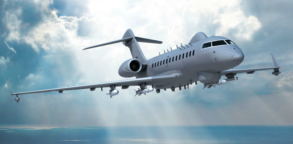 In 2015, Israel Aerospace Industries (IAI) and its ELTA subsidiary unveiled plans for a new maritime patrol aircraft based on a Bombardier Global 5000 platform. IAI/Bombardier Image