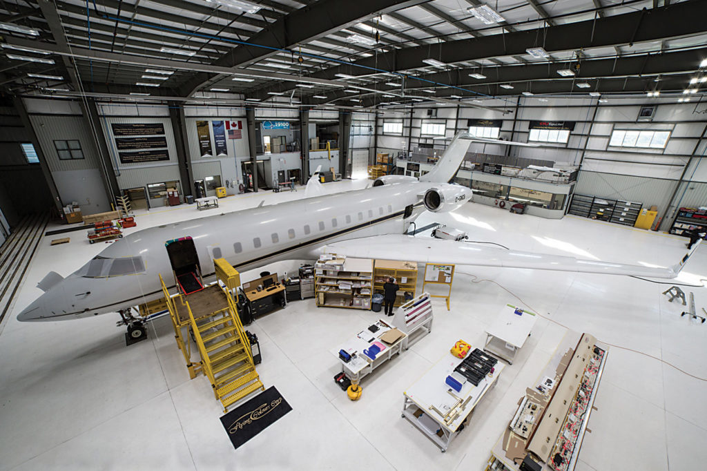 The Global Express arrived at Flying Colours last November for an extensive facelift.