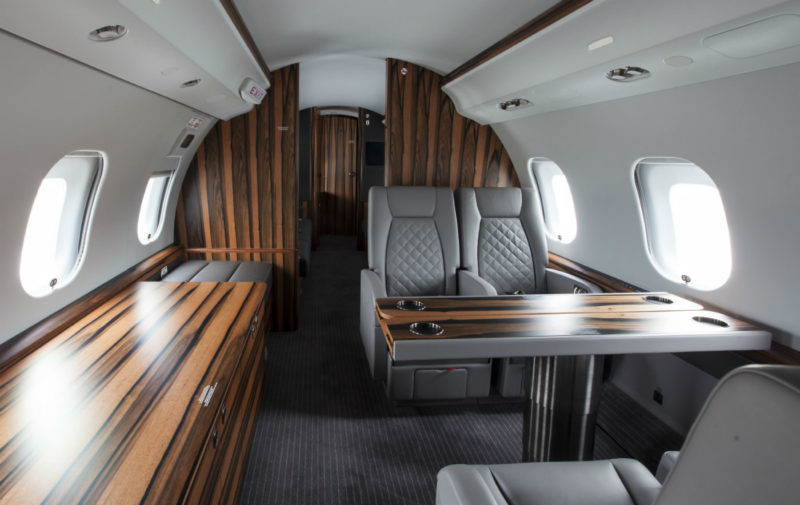 F. List provides cabinets and other unique cabin finishing designs for aircraft like the Bombardier Challenger 350, Embraer's Legacy 450 and 500 and the Lineage 1000, and the Pilatus PC-12, as well as customized refurbishments for used aircraft. F. List Canada Photo