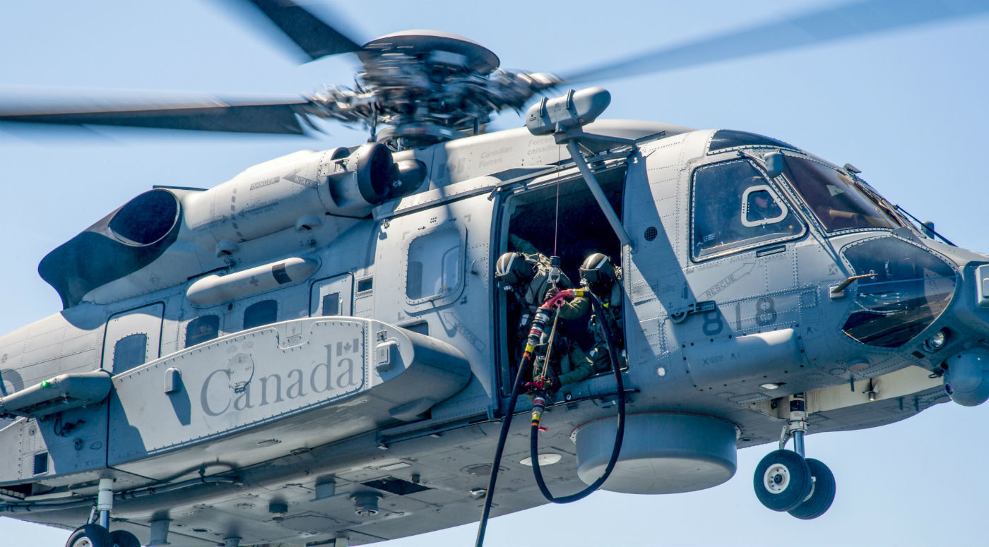"Allan also said that both Cyclone manufacturer Sikorsky and BAE, which built the helicopter's flight control system, are ""fully engaged"" in the ongoing investigation into a March 9 incident that saw a Cyclone experience a ""momentary change in the descent rate"" during a training mission. DND Photo"