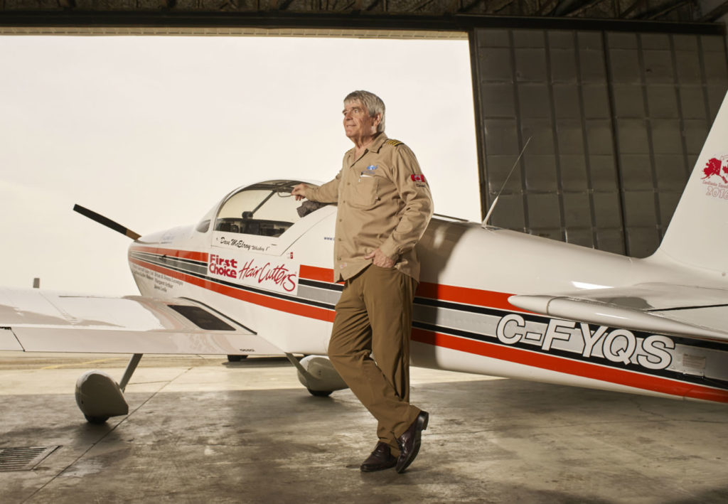Dave McElroy stands with his Van's RV-6. Stephen Caissie Photo