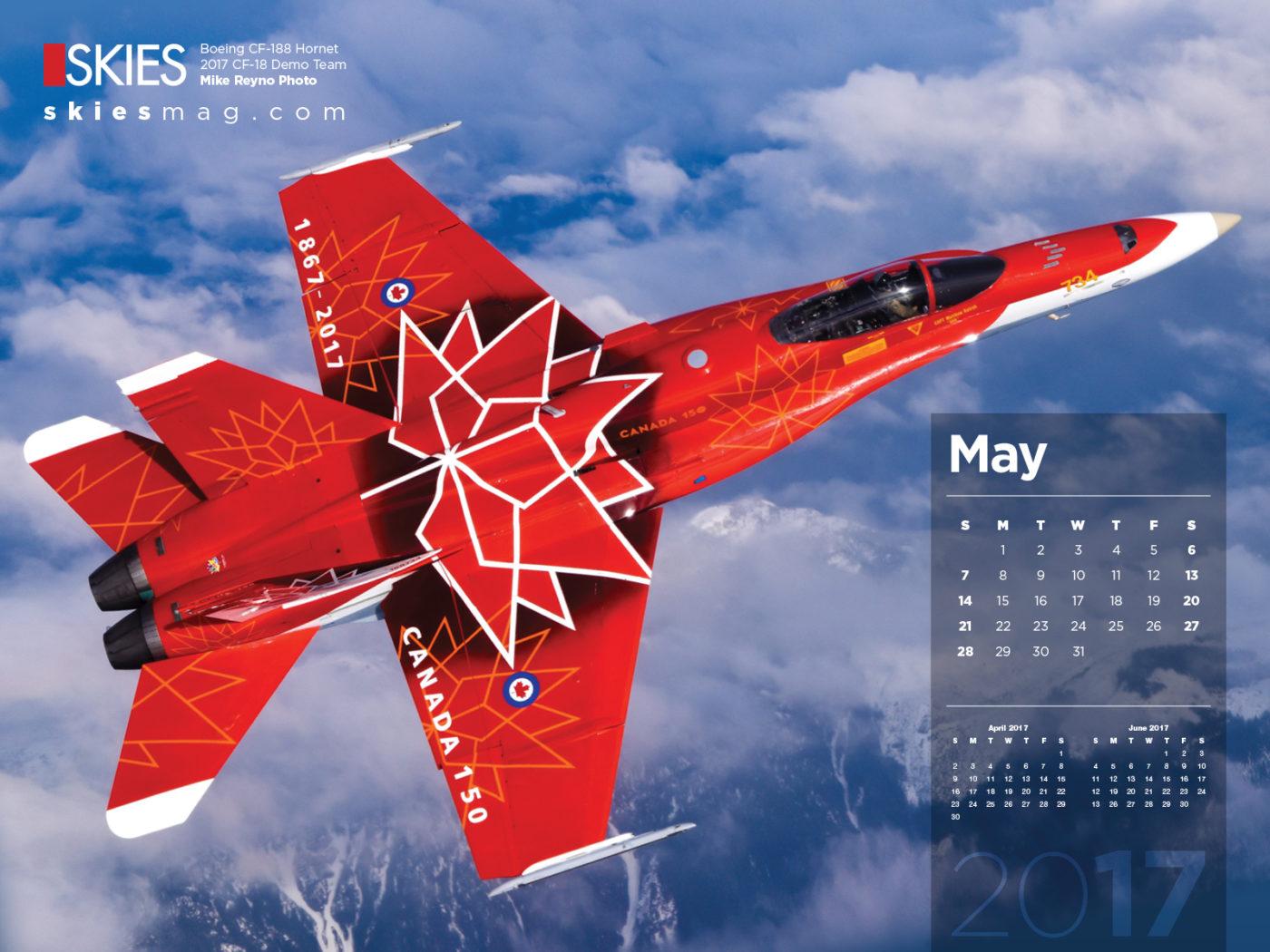 Skies calendar for May
