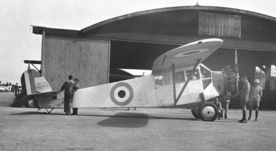 A Fairchild FC-2 Razorback at Camp Borden, Ont., in 1927. The Razorback was in service with the RCAF from 1927 to 1938 and was initially designed for aerial photography. Camp Borden–now Canadian Forces Base Borden–in Ontario was the birthplace of military aviation in Canada. DND Photo