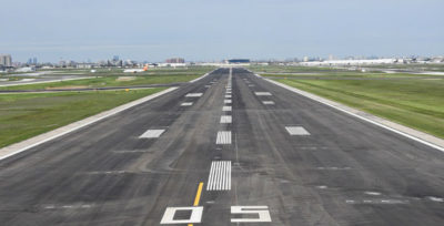 The completed work on Runway 05/23 included removing the existing paved surface, subsurface repair and re-paving, as well as reconditioning of 1,000 inset runway lights and the replacement of 420 kilometres of single-line paint markings. Toronto Pearson Photo