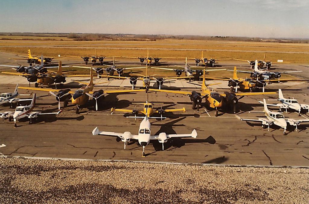The Air Spray fleet in 1980. Air Spray Photo