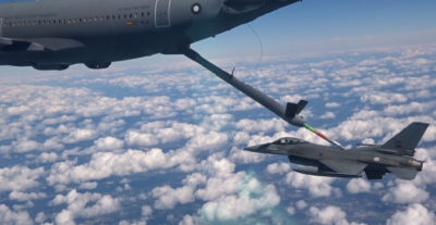 In the March 21 flight off the Portuguese coast, the tanker performed the scheduled six contacts, at flight conditions of 270 knots and 25,000 feet over a one-hour, 15-minute test period. Both crews reported a faultless operation. Airbus Photo