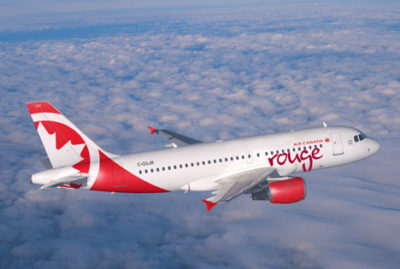 Air Canada Rouge has begun offering high-speed, satellite internet aboard its Airbus A319 aircraft. Air Canada Photo
