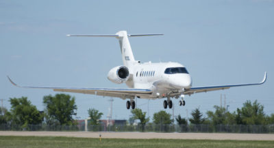 Textron Aviation test pilots Andrew Peters and Brian Gigax took the aircraft to full envelope during the three-hours and 20-minute flight and the aircraft reached all of its performance targets. Textron Photo