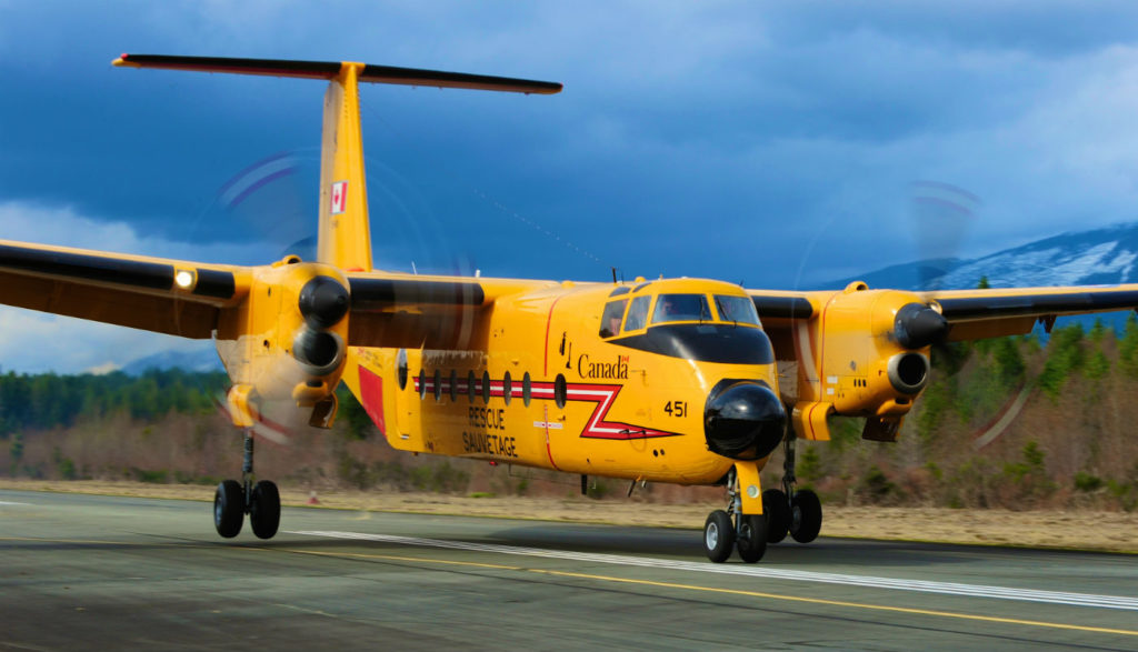 A mixed fleet of CC-130H Hercules and CC-115 Buffalo aircraft have been performing the important FWSAR [fixed-wing search and rescue] role for the past 50 years. Mike Reyno Photo