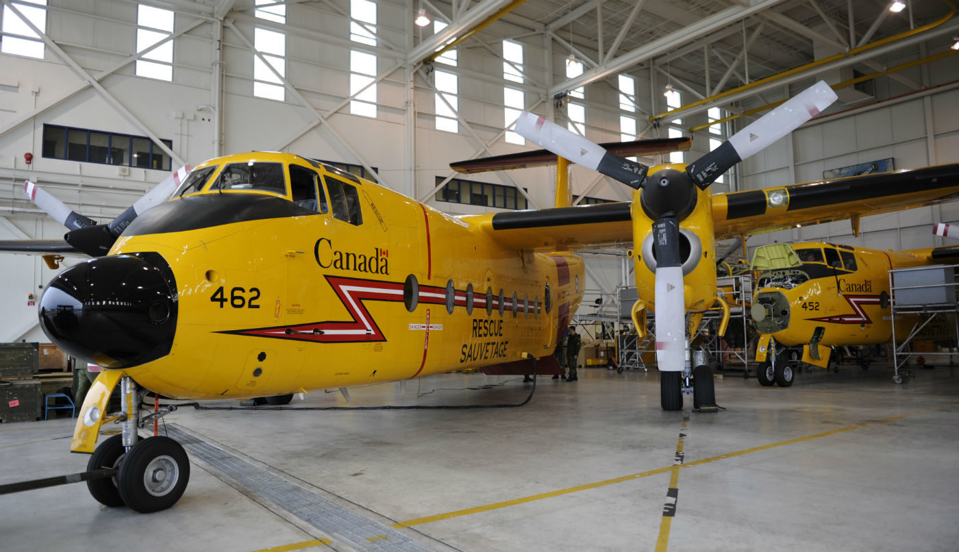 The first contract, valued at $21.8 million (including taxes), will help maintain the Royal Canadian Air Force's (RCAF's) CC-115 Buffalo search and rescue aircraft for a period of three years and includes the option to extend the contract for an additional year. Mike Reyno Photo