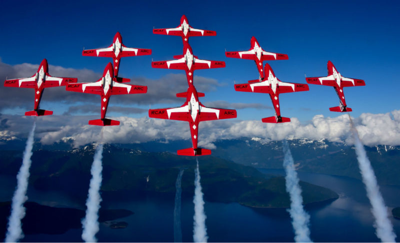 The Canadian Forces Snowbirds will fly over Parliament Hill on Canada Day and will play an essential role in the sesquicentennial celebrations. Mike Reyno Photo