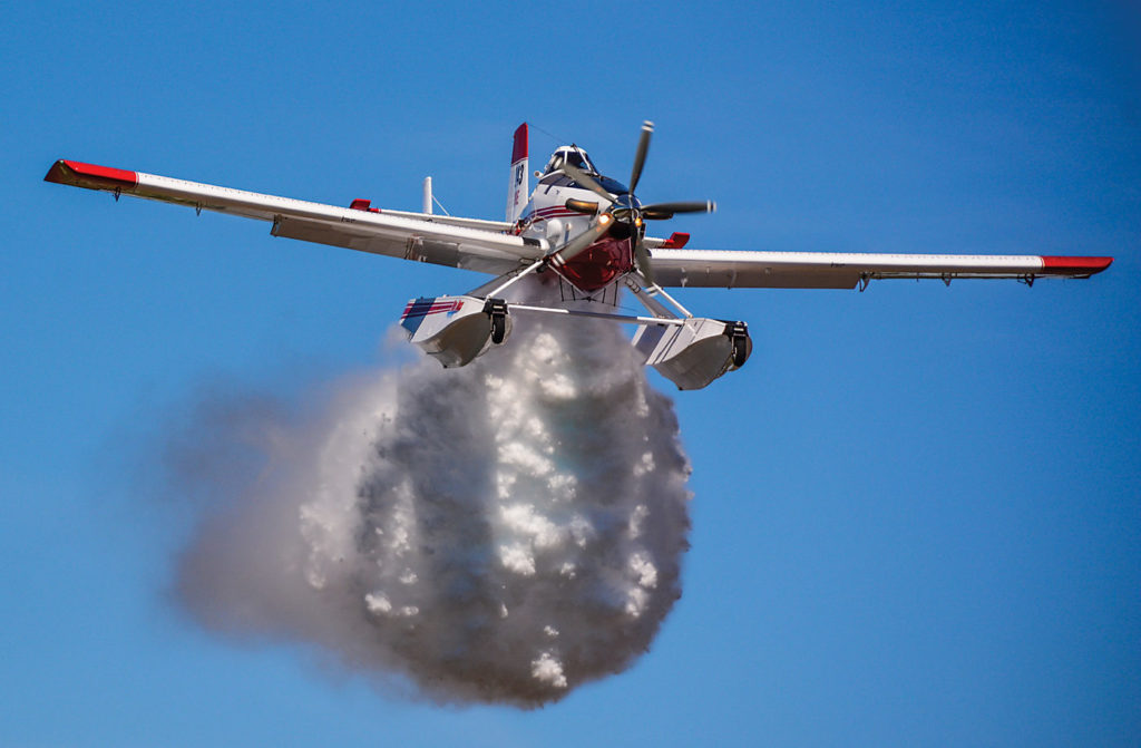Three Air Tractor 802Fs and five Air Tractor Fire Boss aircraft are fielded from Air Spray's base in Chico, Calif. Michael Piper Photo