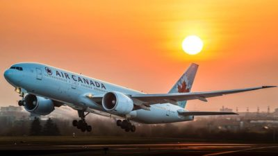 An Air Canada Boeing 777-200/LR rotating off runway 15R at Toronto Pearson International Airport. Photo submitted by Adam Tetzlaff