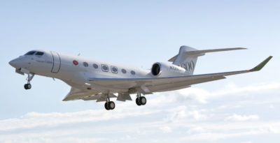 The G600 took off at 8:51 a.m. from Savannah-Hilton Head International Airport on May 5, flying for a total of four hours and 35 minutes. Gulfstream Photo