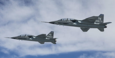 The U.S. Air Force Advanced Pilot Training System competition, commonly known as T-X, is designed to replace the T-38 trainer in use today. It will help train fighter and bomber pilots for generations to come. Boeing Photo