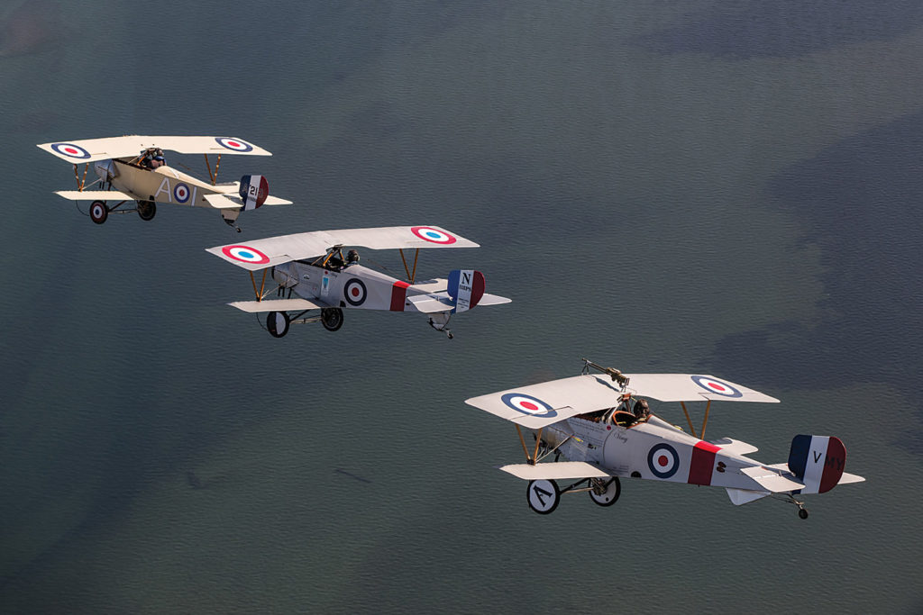 To mark the 100th anniversary of the battle on April 9, four Nieuport XI replica Scout aircraft, two Sopwith Pup replica biplanes and one Royal Aircraft Factory S.E.5a replica biplane traveled to France. Lyle Jansma Photo