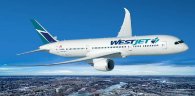 This agreement includes commitments for 10 Boeing 787-9 aircraft to be delivered between the first quarter of 2019 and December 2021, with options for an additional 10 aircraft to be delivered between 2020 and 2024. WestJet Photo