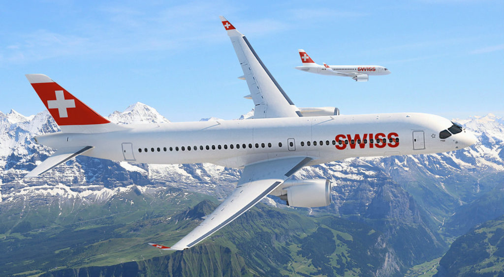 SWISS Receives First Bombardier CS300