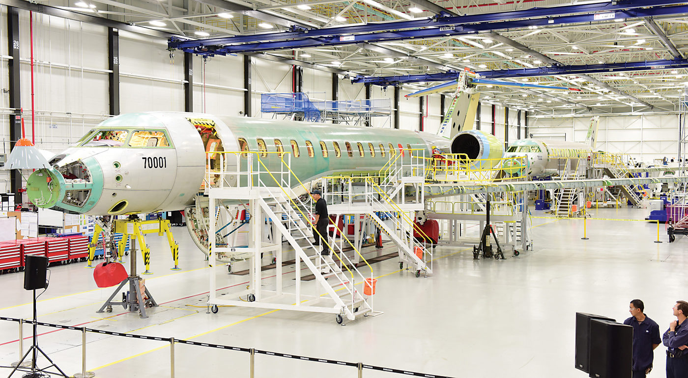 """""""[Industry] 4.0 is not only about the factory, it is the total enterprise,"""" said Hany Moustapha, director of engineering program AEROETS. Greig Reekie Photo"""
