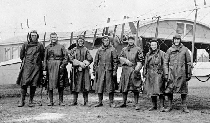 Pictured here are members of the first graduating class of the Royal Flying Corps Canada at Camp Borden, Ont., in May 1917. DND Photo