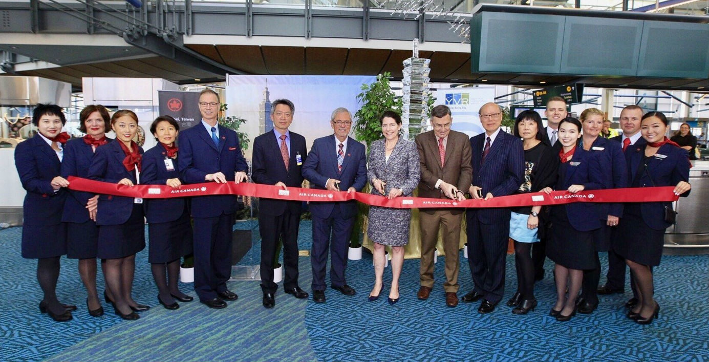 Air Canada held a gate celebration at Vancouver International Airport on June 9. Air Canada Photo