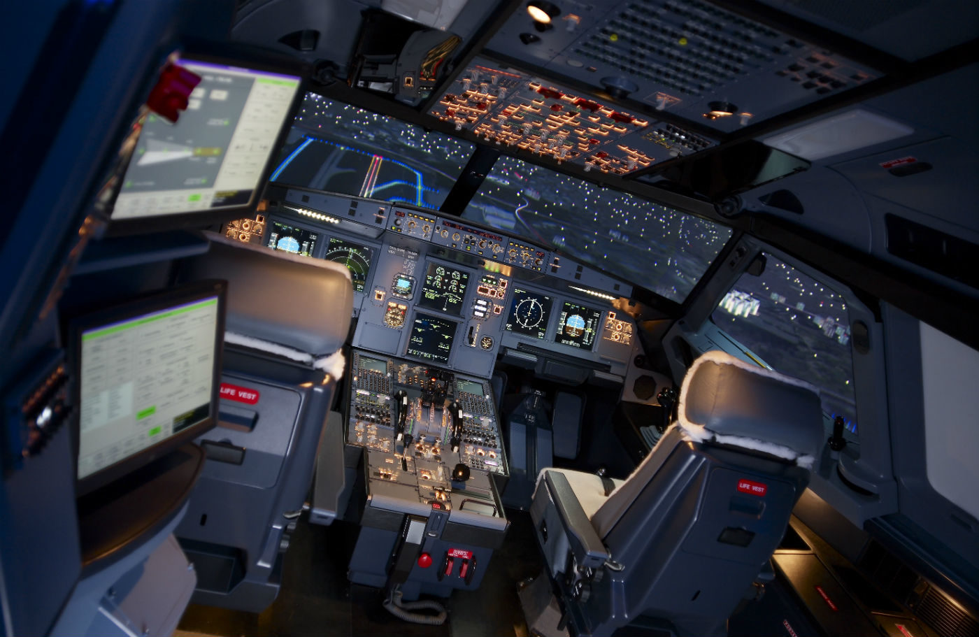 TRU has two full flight training suites for the 777X on contract in Boeing's Singapore and Gatwick training centres, and this past year delivered two 737 MAX Level D simulators—the first ones in the world—to Boeing training centres in Miami and Singapore. TRU Photo
