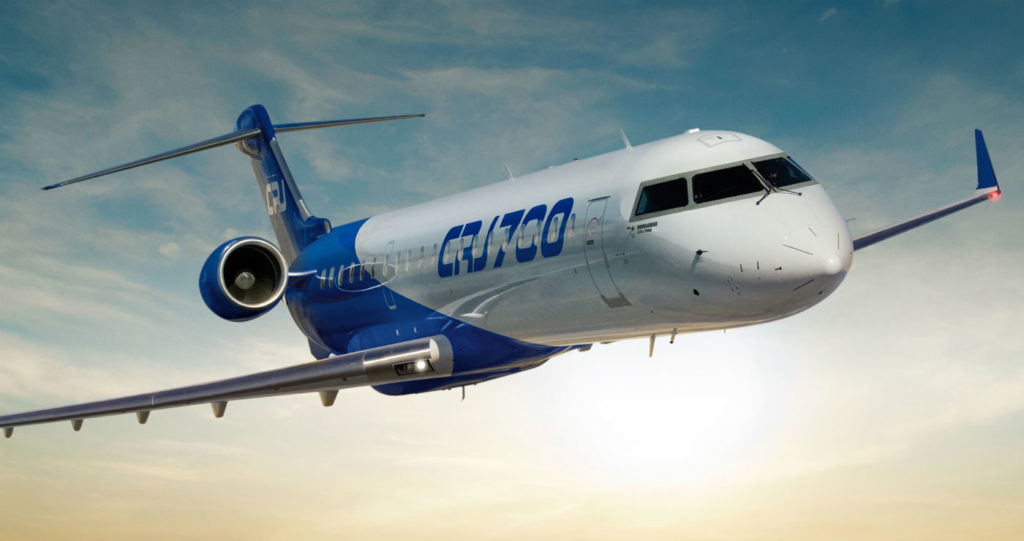 Jazz Aviation is designated as a Bombardier authorized provider of maintenance, repair and overhaul services on CRJ100, CRJ200, CRJ700 (pictured here), CRJ900 and CRJ1000 aircraft, as well as Q100, Q200, Q300 and Q400 aircraft. Bombardier Photo