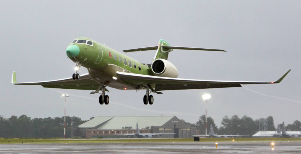 The G600 departed Savannah-Hilton Head International Airport at 6:50 p.m. During the one-hour and 18-minute flight, the aircraft climbed to a maximum altitude of 51,000 feet/15,545 metres and reached a maximum airspeed of Mach .925. The aircraft landed back in Savannah at 8:08 p.m., local time. Gulfstream Photo