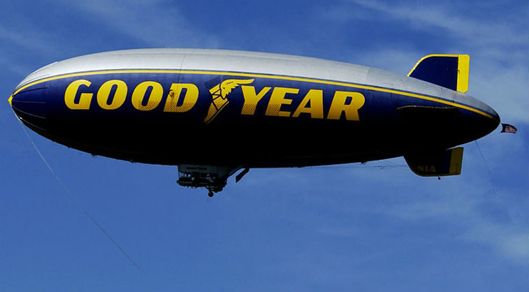 Goodyear Blimp in flight