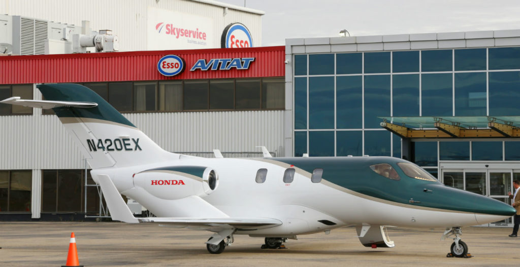 To provide sales, service and support for customers in Canada, Honda Aircraft Company has partnered with Skyservice Business Aviation. Honda Aircraft Photo