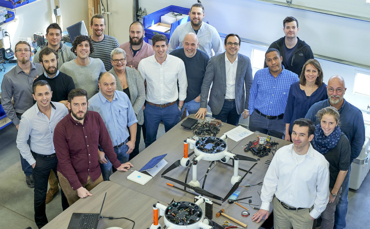 The Microdrones team in Vaudreuil-Dorion, Que. Microdrones also has offices in Siegen, Germany and Rome, New York - as well as representatives around the world. Microdrones Photo