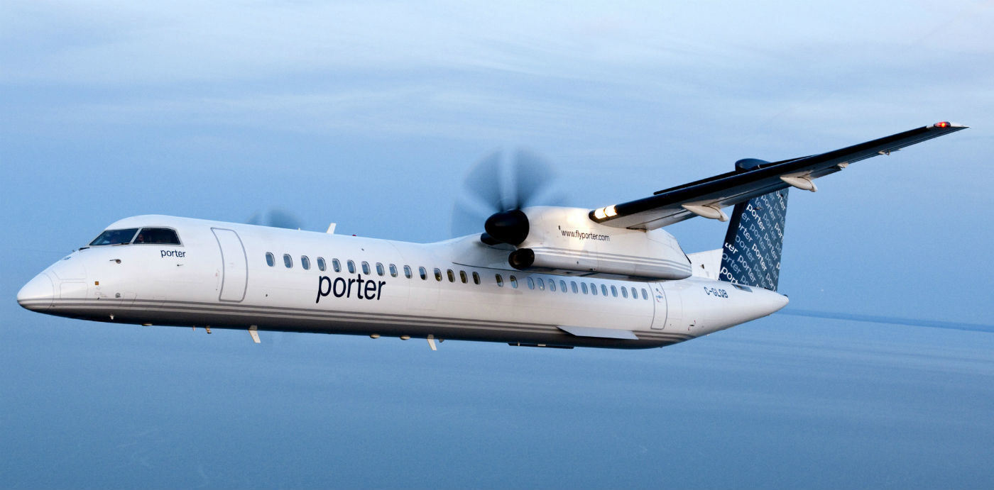 Porter Airlines grows Atlantic market with new service to Saint John. Porter Airlines Inc. Photo