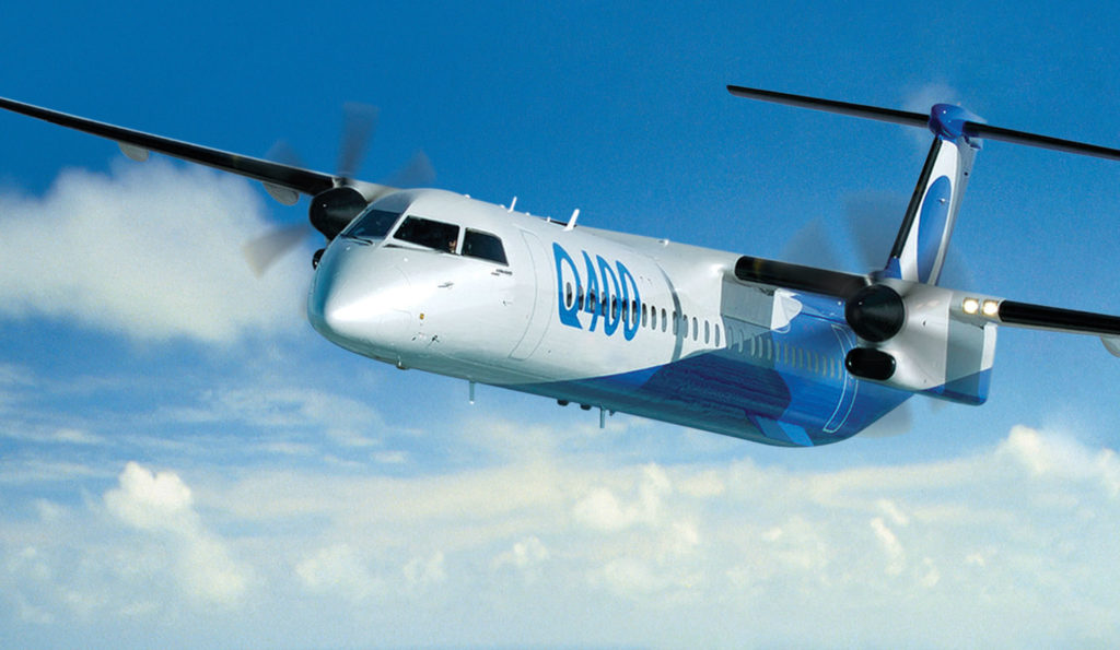 Q400 in Bombardier livery