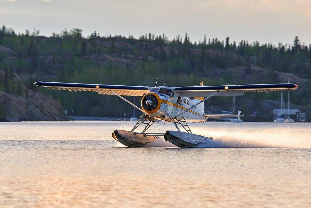 Touching down on Back Bay, Great Slave Lake, Yellowknife, N.W.T. Photo submitted by ‎Stephen M. Fochuk‎