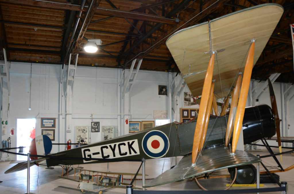 An Avro 504K sits at the CFB Borden Aviation Museum. The aircraft was used as the standard trainer in the 1920s. Eric Dumigan Photos