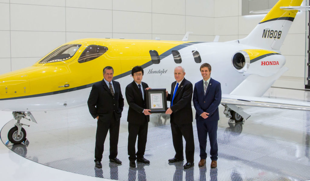 Canadian type certification for the HondaJet follows approvals in the United States (Federal Aviation Administration), Europe (European Aviation Safety Agency), and Mexico (Directorate General of Civil Aviation). Honda Aircraft Company Photo