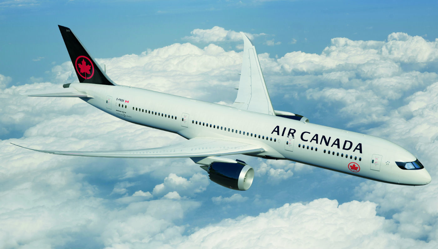 Air Canada's most modern aircraft, the Boeing 787-9 Dreamliner. Air Canada Photo