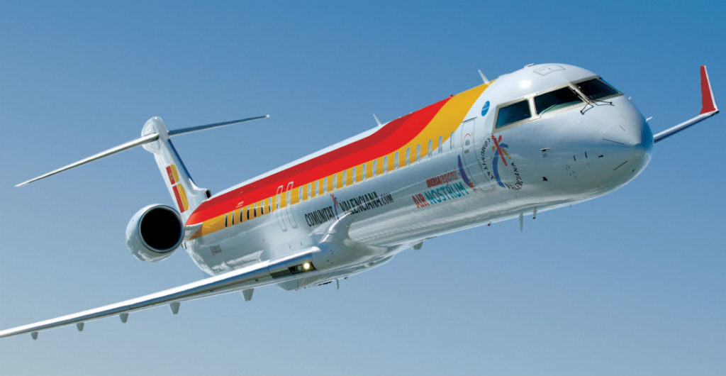 On Nov. 9, 2016, Chorus announced plans to purchase and lease four new CRJ1000 regional jets to Air Nostrum. The fourth aircraft is scheduled to be delivered in September 2017. Bombardier Photo