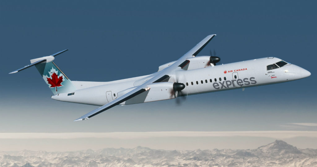 The daily non-stop Air Canada Express service will be operated with 50-seat Bombardier CRJ-100 aircraft. Bombardier Photo