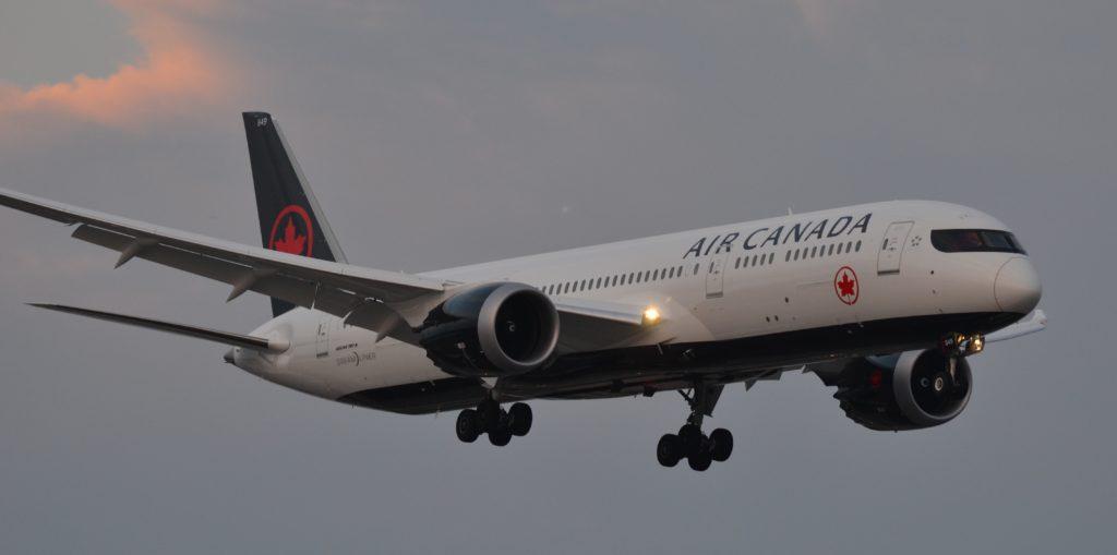 Dreamliner in flight