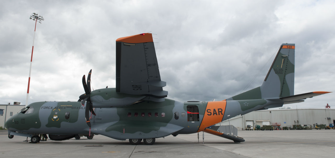 A SAR-designated C-295 aircraft from the Brazilian Air Force was showcased during a media event held at 8 Wing Trenton, Ont., on July 26, 2017. Aviator Jerome J.X. Lessard Photo