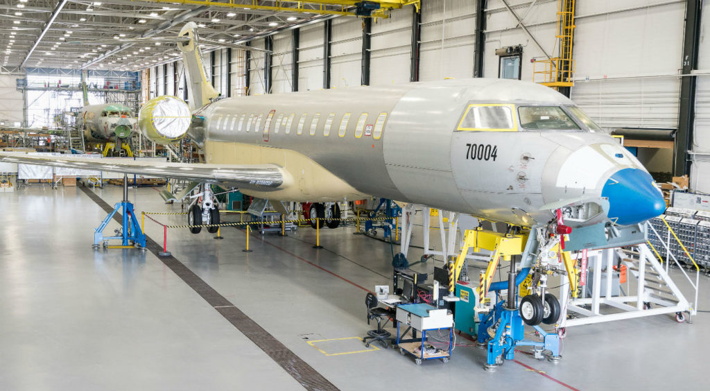 All FTVs have demonstrated high performance, reliability and an exceptionally smooth ride. FTV4 and FTV5 are currently in pre-flight bay in Toronto, Ont. Bombardier Photo
