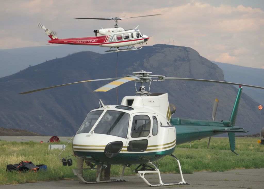 About 200 helicopters have contributed to the relief effort, including some from Coldstream Helicopters in Vernon, B.C. Jason Kobbero Photo