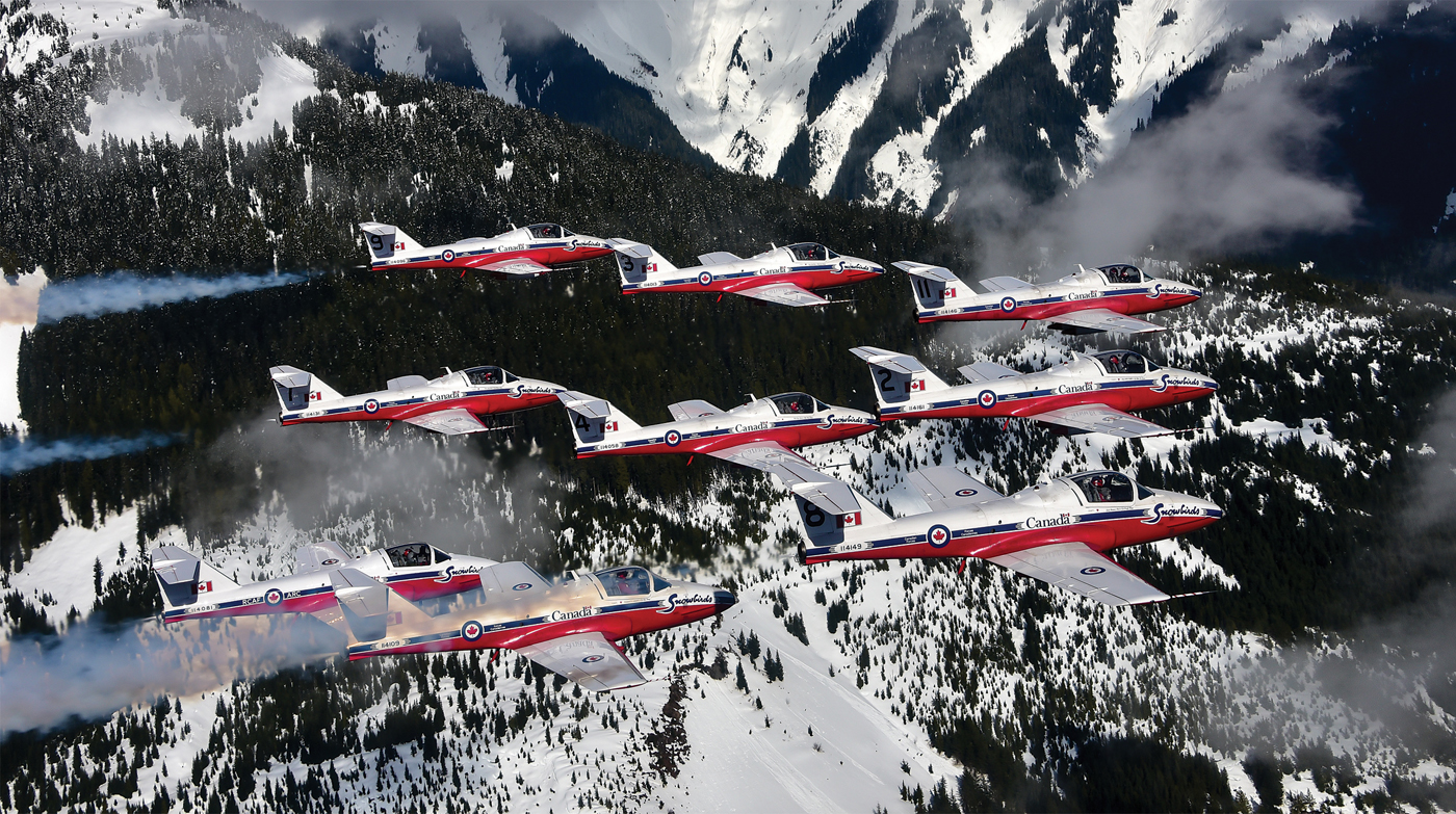 "There are many moving parts to any successful show season for the Snowbirds, many of which are rarely seen by the general public. The Ops/Standards Cell and the Tutor SET are just two of those critical ""behind the scenes"" elements. Mike Reyno Photo"
